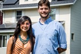 PHOTO BY MARK CHAMBERLIN - Burt and Paola Betchart had solar panels installed on their house in the Beechwood neighborhood.