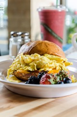 PHOTO BY MARK CHAMBERLIN - Root 31 Cafe and Eatery focuses on sourcing fresh, local products to make its dishes, like in the egg sandwich.