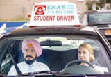 "PHOTO COURTESY BROAD GREEN PICTURES - Ben Kingsley and Patricia Clarkson in ""Learning to Drive."""