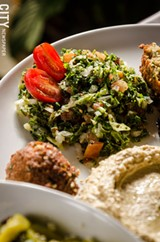PHOTO BY MARK CHAMBERLIN - Tabbouleh made with tomatoes, parsley, mint, and quinoa