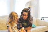 PHOTO BY RYAN WILLIAMSON - Sarah Cincotta with her daughter, Pearl.