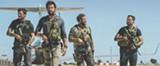 "PHOTO COURTESY PARAMOUNT PICTURES - Pablo Schreiber, John Krasinski, - David Denman, and Dominic Fumusa in ""13 Hours: - The Secret Soldiers of Benghazi."""