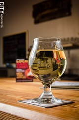 PHOTO BY MARK CHAMBERLIN - After bonding over music and hard cider, Patrick Jaouen and Sam Conjerti opened Mullers Cider House on University Avenue.