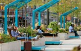 PHOTO PROVIDED - How about swinging seats at Genesee Crossroads-Charles Carroll Plaza?