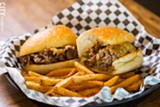 PHOTO BY JOHN SCHLIA - After the Blossom Road Pub's owners took over the former Winton Bar & Grill space, they renovated the bar and kitchen areas. The pub serves gastropub fare, like the Signature Philly Cheese Steak (pictured) with sauteed onions, peppers, and cheddar-jack cheese.