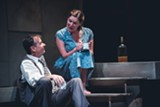 "PHOTO BY COLIN SHANAHAN - Donald Sage Mackay as James Tyrone Jr., and Kate Forbes as - Josie Hogan in Geva's production of ""A Moon for the - Misbegotten."""