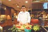 PHOTO BY RYAN WILLIAMSON - Andrew Chambers is the executive chef for the New York Wine and Culinary Center. The 28-year-old Penn Yan native focuses on partnering with local farms and businesses for the dinners hosted by NYWCC.