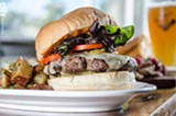 PHOTO BY MARK CHAMBERLIN - The Chuck Burger,featuring local beef, Chipotle aioli, aged cheddar, and fried jalapenos,