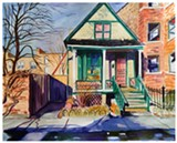 "PHOTO PROVIDED - Emily Rapport's watercolor, ""House with Green Trim,"" is part of the ""House and Home"" group show currently on view at Main Street Arts. A slideshow of more images is available online at rochestercitynewspaper.com."