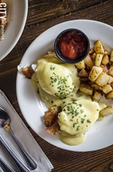 PHOTO BY MARK CHAMBERLIN - On the menu is Queens benedict.