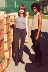 PHOTO BY JACALYN MEYVIS - Pleistocene's Katie Preston (left) and Cammy Enaharo.