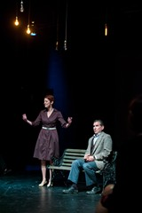 "PHOTO BY JOSH SAUNDERS - WallByrd Theatre produced ""The Kiss"" in SOTA's black box theater."