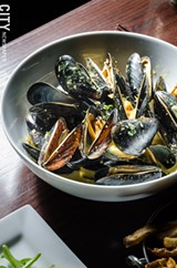 PHOTO BY MARK CHAMBERLIN - The Vesper is a gastropub and raw bar, with an atmosphere the owners hope will allow people to feel as comfortable drinking a Genny as they would a high-end martini.