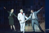 """PHOTO BY SAMPERIMAGES - Paige Kiefner, Billy DeMetsenaere, and Kyle Critelli in - """"Miracle on 34th Street: The Musical,"""" on stage now at Kodak Center for - Performing Arts."""