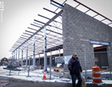 PHOTO BY KEVIN FULLER - The Public Market's new winter shed will house the market's indoor vendors and have a glass front so people can see inside.