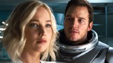 "PHOTO COURTESY SONY PICTURES - Jennifer Lawrence and Chris Pratt in ""Passengers."""