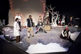 "PHOTO BY DAN HOWELL - A scene from ""The Flight Before Christmas,"" part of Blackfriars' 2016-17 season. Kerry Young, one of the play's writers and actors, will direct a show in the company's 2017-18 season"