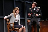 "PHOTO BY KEN HUTH - Jessiee Datino as Grace and Jason Kolotouros as General Kane in ""Other Than Honorable."""
