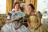 "PHOTO COURTESY MUSIC BOX FILMS - Cynthia Nixon and Jennifer Ehle in - ""A Quiet Passion."""