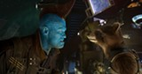 """PHOTO COURTESY WALT DISNEY PICTURES - Yondu (Michael Rooker) and Rocket Racoon (voiced - by Bradley Cooper) share a moment in """"Guardians of the Galaxy Vol. 2."""""""