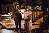 "PHOTO PROVIDED - David Munnell as Willy Loman and - Patricia Lewis Browne as Linda Loman in the Blackfriars - Theatre production of ""Death of a Salesman."""