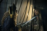 """PHOTO COURTESY WALT DISNEY PICTURES - Geoffrey Rush and Johnny Depp in """"Pirates of the Caribbean: - Dead Men Tell No Tales."""""""