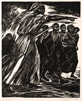 """PHOTO COURTESY MEMORIAL ART GALLERY - Elizabeth Catlett's 1975 linocut, """"Harriet,"""" is part of """"The Power of the Female Gaze,"""" an exhibit of work by women artists on view at Memorial Art Gallery."""