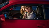 "PHOTO COURTESY TRISTAR PICTURES  - Ansel Elgort and Lily James in ""Baby Driver."""