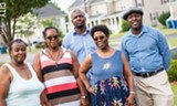 PHOTO BY KEVIN FULLER - From left: PLEX members Barbara Ashford, Patricia Neal, Kevin Lester, Dorothy Hall, and Dorian Hall are concerned about gentrification.