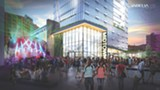 ART PROVIDED - New renderings for the proposed RBTL theater show public use of adjacent streets.