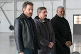 "PHOTO COURTESY AMAZON STUDIOS - Bryan Cranston, Steve Carell, and Laurence Fishburne in ""Last Flag Flying."""