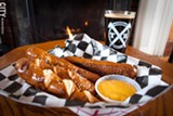 PHOTO BY RYAN WILLIAMSON - Twisted Rail Brewing's Railroad Tie Pretzels, served with beer cheese and paired with the brewery's Scotch Ale.