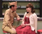 "PHOTO CREDIT LOU SCHNEIDER - CJ Garbin and Sydney Howard in JCC CenterStage's production of ""Dogfight, the Musical."""