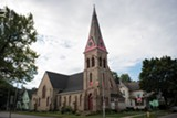 PHOTO BY JACOB WALSH - The First Assembly of God church at Jones Avenue and North Plymouth Avenue.