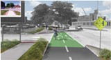 DRAWING COURTESY OF THE CITY OF ROCHESTER. - The city expects to start construction on the Elmwood Avenue-Collegetown cycle track this year. The project will create a two-way, bike-only corridor along Elmwood between Wilson Boulevard and Mt. Hope Avenue.