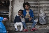 "PHOTO COURTESY SONY PICTURES CLASSICS - Zain Al Rafeea and Boluwatife Treasure Bankole in - ""Capernaum."""