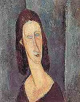 "Where'd ya get those eyes? Amedeo Modigliani's ""Blue Eyes (Portrait of Madame Jeanne Hbuterne),"" 1917."