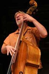 PHOTO BY FRANK DE BLASE - Wowing the crowd: Mose Allison bassist Rich Syracuse.