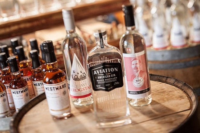 The line of liquors from House Spirits Distillery - COURTESY