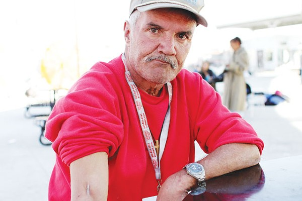 55-year-old homeless resident Kenneth Smith at Prospects Courtyard. - MICHAEL BARAJAS