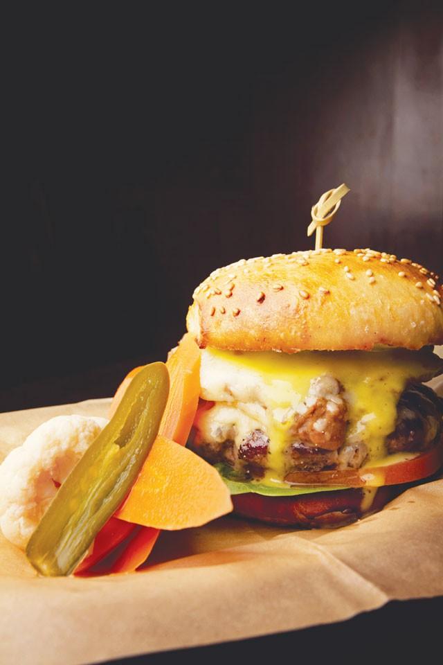 A bean burger from The Esquire - JOSH HUSKIN