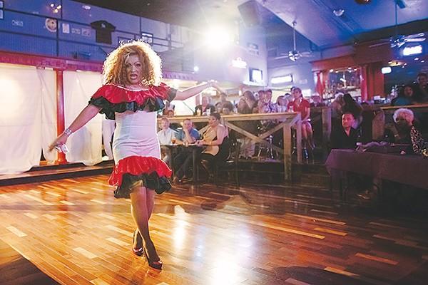 A contestant struts her stuff at SA Country Saloon - JOSH HUSKIN
