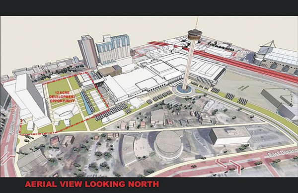 A map from a 2010 Powerpoint presentation to the City detailing plans for HemisFair development