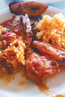 A plate of Puerto Rican offerings from La Marginal.