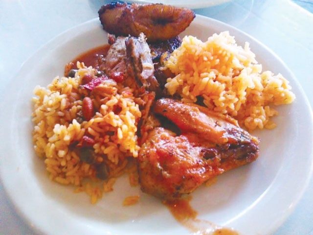 A plate of Puerto Rican offerings from La Marginal. - SOPHIA FELICIANO