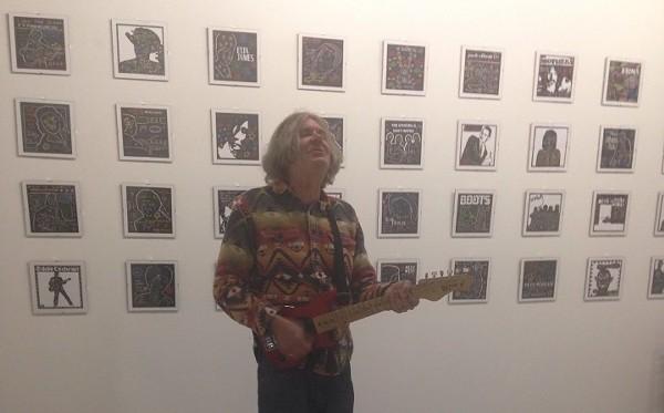 "Jad Fair ""Enjoy Your Life"" art exhibit - SHANNON SWEET"