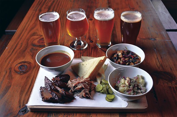 A spread of 'Q and select brews from the Granary. - SCOTT ANDREWS
