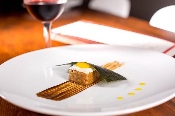 A tamal from Mixtli's Oaxacan menu - CASEY HOWELL