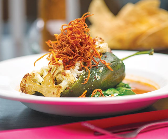 A veggie entree even carnivores may swoon over: Rosario's quinoa chile relleno - CASEY HOWELL