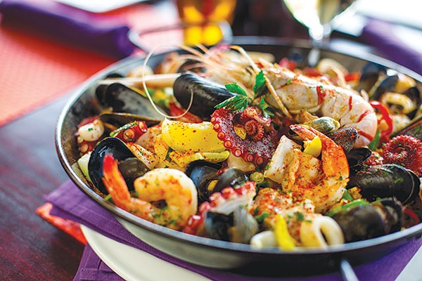 A winning paella via chef Clint Connaway - CASEY HOWELL